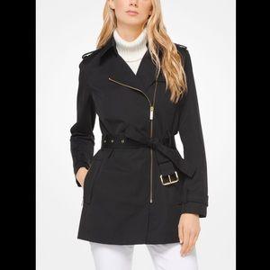 NWT Michael Kors Women's Zip-Front Trench Jacket